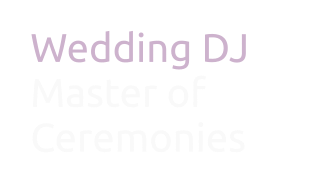 Wedding DJ & Master of Ceremonies