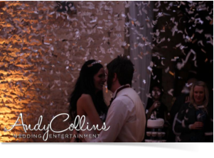 confetti explosion - wedding dj Cotswolds